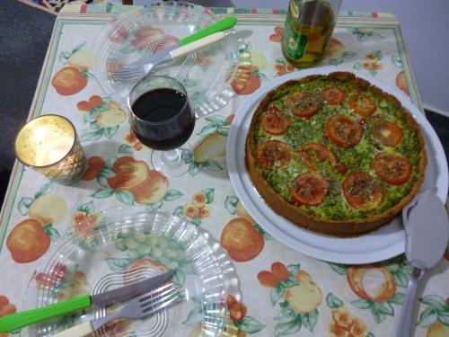 Torta de couve e cenoura